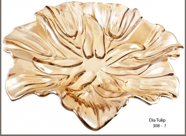 Dĩa Tulip vàng