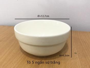 Tô 5 ngấn sứ trắng