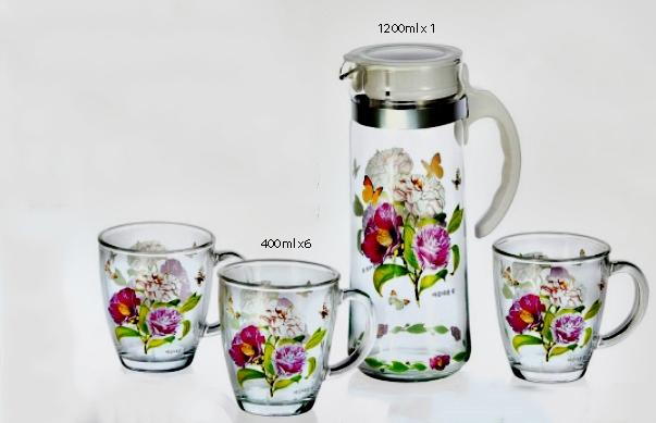 Bộ 6 ly + Bình đứng hoa cao cấp