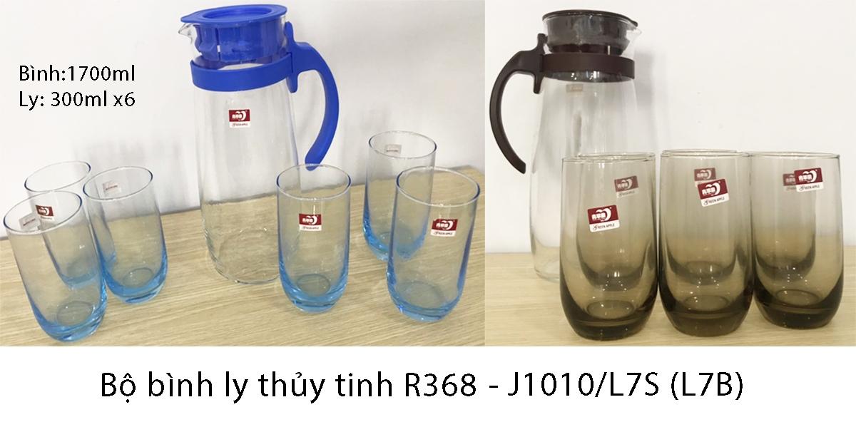 Bộ bình ly thủy tinh