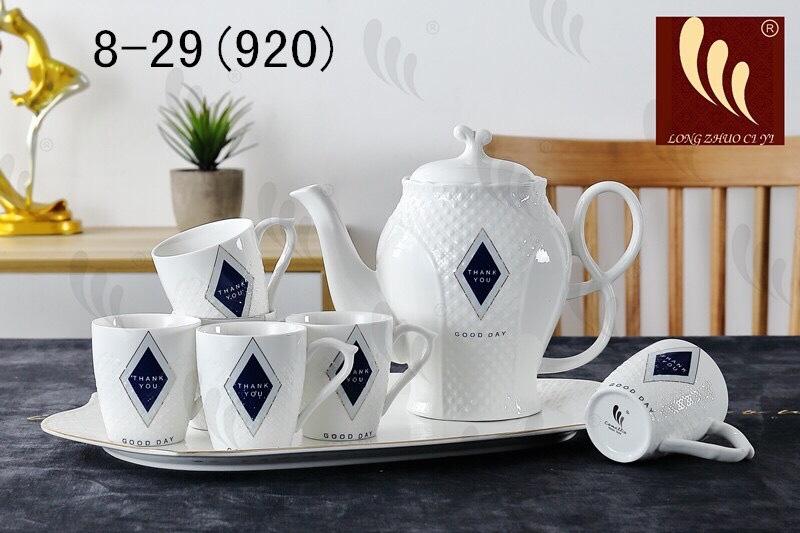 Bộ tách trà bình cao có khay