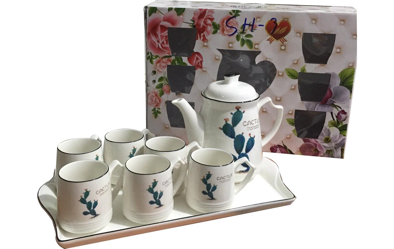 Bộ tách trà khây bình cao SH-1( nhiều hoa)
